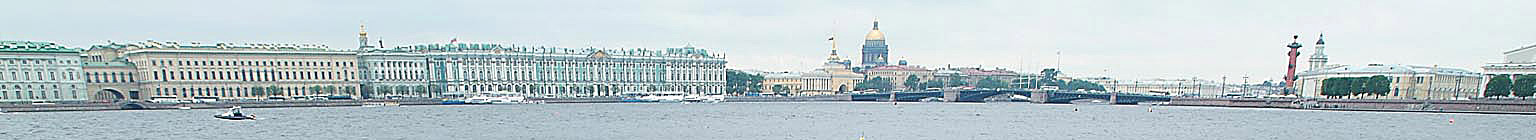 St. Petersburg, canal, Winterpalace, Russia - Banner