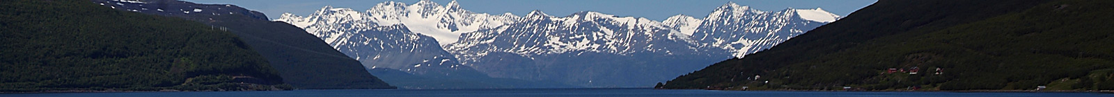 Norway and snowy mountains and fjord - Banner