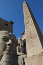 Luxor Temple, Obelisk, Head of Pharaoh Statue.