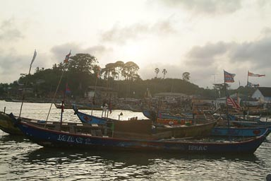 Dixcove, Ghana, Harbour, fishing boats