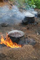 Cooking Palm oil in Ghana