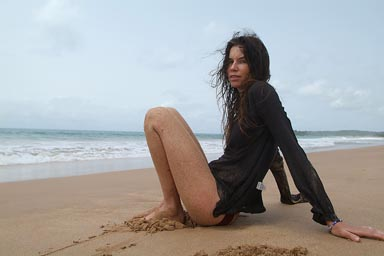 My model on beach in Ghana.