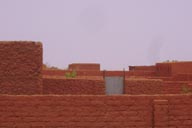 Walls of compound, village in sahel Niger.