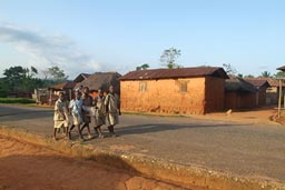 School children on way home. Togo.