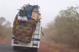 Overloaded Bus, Road Bamako to Segou.