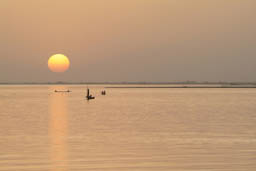 Niger River 5th of Feb sunset.