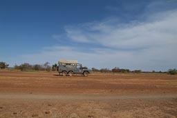 Land Rover on entering Dogon Land.