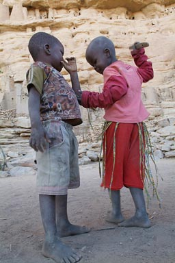 Two Dogon boys, Irelli.