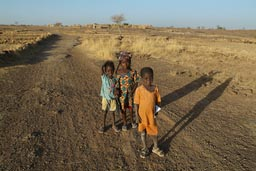 3 first graders, school children, Dogon land.