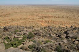 View from top of cliff, Dogon land, The Yougas.