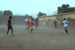 Dusty street football, Bamako.