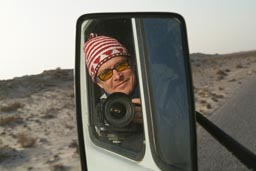 Manfred in mirror MB209 Western Sahara.