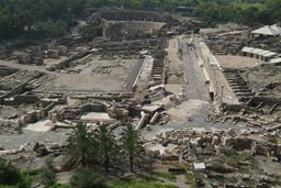 Bet Shean, excavations of Roman city.