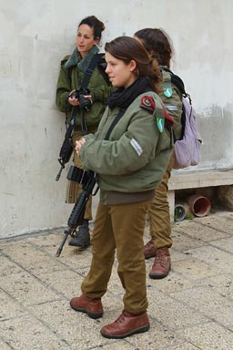 Israeli, young, female, soldiers.