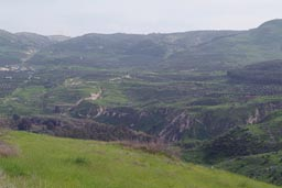 Green mountains, near Tiberias.