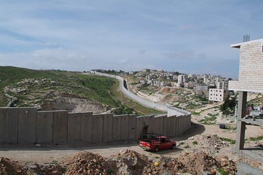 Israeli wall seperating Palestine, near Jerusalem.