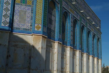 Blue tiles of Dome of the Rock.