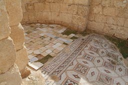 Church, floor deco, mosaic, Jerash, Jordan.