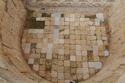 Tiles floor apse, Byzantine church, Jerash.