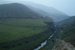 North Western Jordan, lush green, border with Israel.