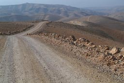 My road, desert mounts west of Amman.