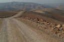 My desert mountain road, west of Amman.
