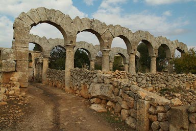 Arches on Front Porch, Lost City. Syria.