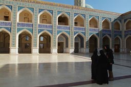 Shia mosque, Ar-Raqqah, Syria, women in black.