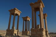 Tetrapylon, Palmyra, morning still.