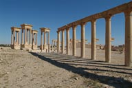 Tetrapylon and collonade, Palmyra.