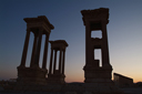 Palmyra, Tetrapylon at dusk.