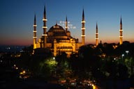 Dusk, blue mosque Sultan Achmed, Istanbul.