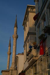 Minarets of Hamid i Evvel Mosque on Asian side of Bosporus.