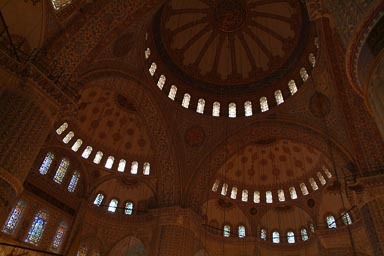 Inside Blue Mosque, Istanbul.