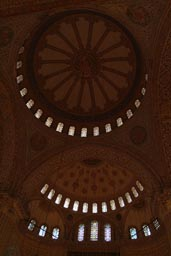 Interior, cupola, Sultan Ahmed mosque, Istanbul.