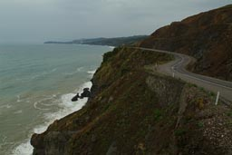 Black Sea coastal road.