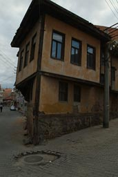 Old, Ottoman house, nearly falling over. Kastamonu, Turkey.