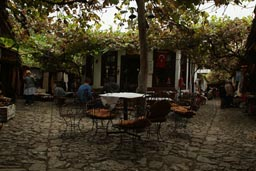 Cafe, vines, Safranbolu.