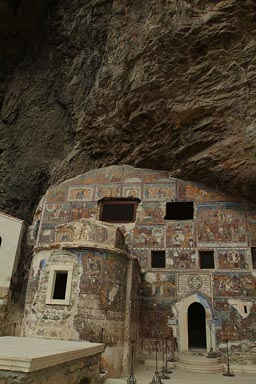 Sumela Monastery, rock church, cliff.