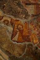 Layers of frescoes in Rock chapel, Sumela monastery. Turkey.