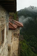 Sumela Monastery. Turkey, outlook, valley, snow.