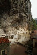 Site, center court yard. Sumela Monastery.