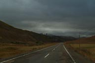 Road Anatolia. Bad weather.