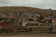 Bayburt, street, rubbish bin, colored roofs.