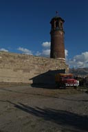 Erzurum, clock tower, Fargo truck.