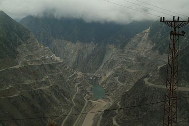 Deriner dam, near Artvin, Coruh valley.