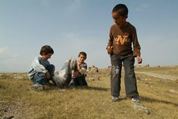 Kids in Ani, Turkey.