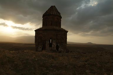 Evening mood, Armenian church St. Gregory of the Abughamrents. Ani, Turkey.