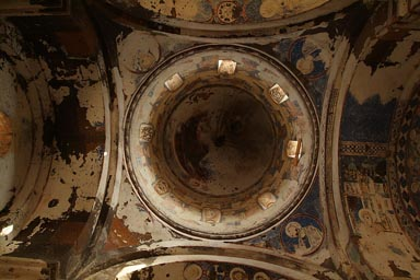 Magnificant dome and frescoes. St. Gregory of Tigran Honents. Ani