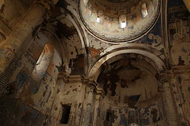 Tigran Honents Armenian church. Blue Frescoes.